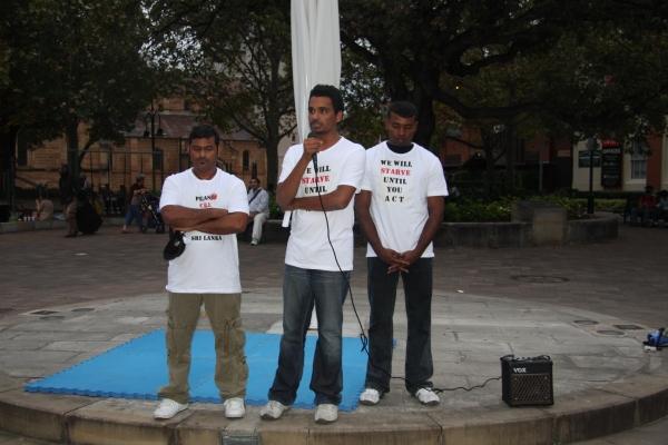 Photo taken of Sutha Thanbalasingam, Mathivannan Sinnathurai and Pratheepan Rajathurai
