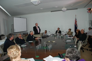Photo taken at the forum in Canberra